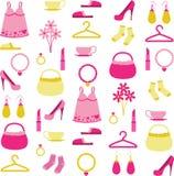 Ramassage des accessoires de la femme Photo libre de droits