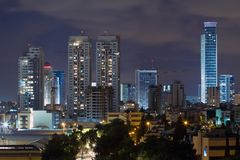 Ramat Gan city at night. Royalty Free Stock Photos