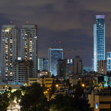 Ramat Gan city at night. Stock Photography