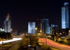 Ramat-Gan na noite Imagem de Stock Royalty Free