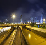Ramat-Gan at night Royalty Free Stock Image