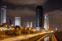 Ramat-Gan by night Royalty Free Stock Photo