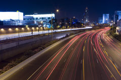 Ramat-Gan at night Royalty Free Stock Photography