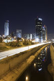 Ramat-Gan at night Stock Photo