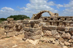 Ramat Hanadiv, Israel. Ruins of byzantine farmhouse, Ramat Hanadiv, Israel Royalty Free Stock Photos