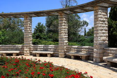 Ramat Hanadiv, Israel. The Rose Garden at Ramat Hanadiv Memorial Gardens, Israel Stock Images