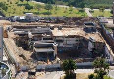 Ramat HaYal, ISRAËL - 9 décembre 2017 : La vue panoramique du garage s'effondre dans une des plus grandes villes dedans Photos stock