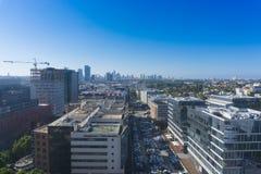 Ramat HaYal, ISRAEL - DECEMBER 9, 2017: Panoramautsikt av det Ramat HaChayal området, telefon Aviv-Yafo, Israel Royaltyfria Foton