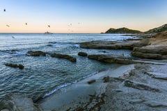 Ramatuelle пляжа Стоковые Изображения