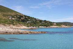 Ramatuelle, Bonne Terrase no Riviera francês Imagem de Stock Royalty Free