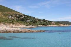 Ramatuelle,在法国海滨的Bonne Terrase 免版税库存图片
