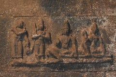 Ramayana岩石艺术 免版税库存图片