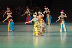 Ramayana balet przy przy Prambanan, Indonezja obraz stock