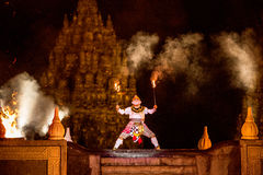 Ramayana Ballet performer. YOGYAKARTA, INDONESIA - OCT 12: Ramayana Ballet performer at Prambanan Temple stock image