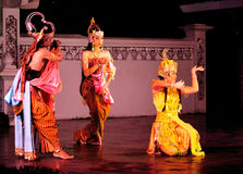 The Ramayana dance performance. This dance-drama is a marvelous visualization of legendary epos in Javanese culture, Ramayana. Performed in an open stage Stock Photos