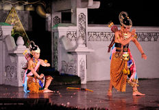 The Ramayana dance performance. This dance-drama is a marvelous visualization of legendary epos in Javanese culture, Ramayana. Performed in an open stage Royalty Free Stock Images