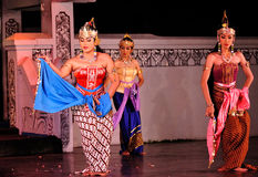 The Ramayana dance performance. This dance-drama is a marvelous visualization of legendary epos in Javanese culture, Ramayana. Performed in an open stage Stock Photography