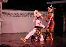 The Ramayana dance performance. This dance-drama is a marvelous visualization of legendary epos in Javanese culture, Ramayana. Performed in an open stage Stock Images