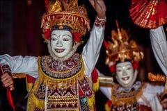 Ramayana epico indiano ha eseguito in Ubud, Bali, Indonesia fotografia stock libera da diritti