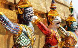 Ramayana figure at Wat prakaew temple , Thailand Royalty Free Stock Images