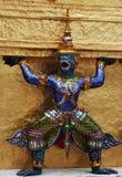 Ramayana figure at Wat Prakaew Thailand Stock Images