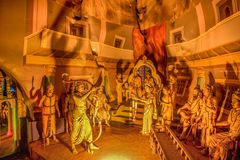 Ramayana grotta på batugrottor i Kuala Lumpur, Malaysia, Asien Arkivbild