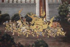 Ramayana Hindu Epic Mural Royalty Free Stock Image