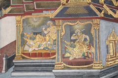 Ramayana Hindu Epic Mural Stock Photo