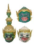 Ramayana khon mask Stock Photos
