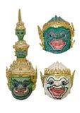Ramayana khon Schablone Stockfotos