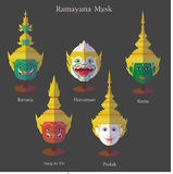 Ramayana mask eps 10 format. Ramayana mask Khon Thai eps 10 format vector illustration