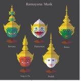 Ramayana maski eps 10 format ilustracja wektor