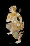Ramayana menschlicher Anstrich auf Wand in Thailand Stockfoto