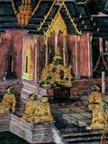 Ramayana mural paintings of , alien battles gods and chimera on walls of kings palace Bangkok, Thailand.  Royalty Free Stock Images