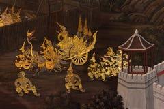 Ramayana op de muur Royalty-vrije Stock Foto's