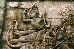 Ramayana relief Royalty Free Stock Photos