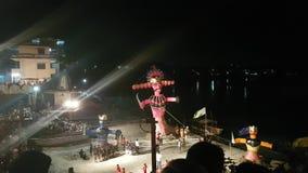 Ramayana Reuzebeeltenis in Dussehra-Festival stock videobeelden