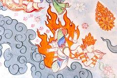 Ramayana rysunek na ścianie Obraz Stock