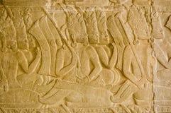 Ramayana scena, Angkor świątynia Wat, Caymbodia Obrazy Royalty Free
