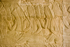 Ramayana scene, Angkor Wat temple, Caymbodia Royalty Free Stock Images