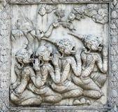 Ramayana Skulptur Stockfotografie