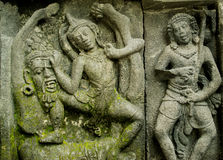 Ramayana Story relief on Prambana Temple Stock Photo