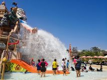 RamaYana Water Park. PATTAYA, THAILAND - March 17, 2018 : RamaYana Water Park, New recreation in Pattaya , Thailand Royalty Free Stock Photo