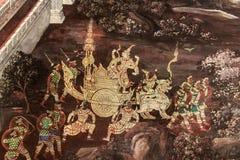 Ramayanamuurschilderingen stock afbeelding