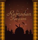ramazan背景的庆祝 库存图片