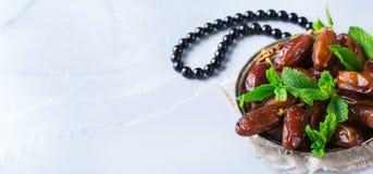 Ramazan kareemferie för Ramadan Traditionella arabiska iftar data Royaltyfria Foton