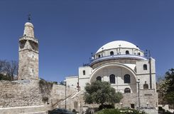 The Ramban synagogue is the oldest functioning synagogue in the Old city. Jerusalem,. Israel stock photos