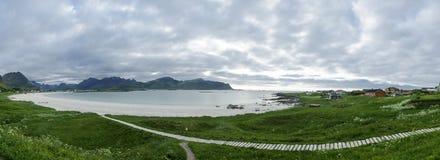 Ramberg beach in Flakstad, Lofoten Islands Royalty Free Stock Image