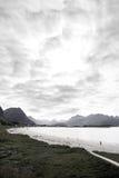 Rambergstrand, Lofoten, Noorwegen Royalty-vrije Stock Fotografie