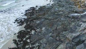 Rambergstranda beach in Lofoten islands stock video